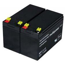 Powery Ersatzakku für USV APC RBC48 12V 7,2Ah/86Wh Lead-Acid Schwarz