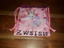 NEW Unicorn Drawstring Zwsisu Bag Pink Backpack