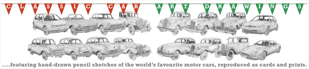 Classic Car Art Drawings