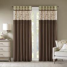 Madison Park Serene Blackout Embroidered Room-Darkening Window Treatment Curtain