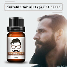 10ml Men Organic Natural Moustache Balm Oil Beard Moustache Oil Moisturizing NEW