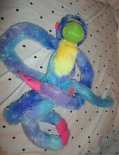 "Aurora Psychedelic Hanging Pastel Monkey 17"" Plush Soft Toy Stuffed Animal"