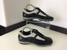 Prada Black Leather Sneakers Trainers Size 37 Uk 4 Vgc Shoes Lace Up