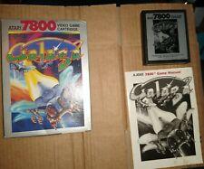 GALAGA ! PAL REGION ! FOR ATARI 7800 ! BOXED WITH MANUAL ! TESTED !