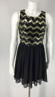 Women's Dress Size Small Forever 21 Sleeveless Black Sequins Top