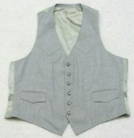 Unbranded Gray Dress Suit Vest Men's Man's Sleeveless Polyester XL Extra Large