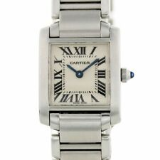 Cartier Tank Francaise Stainless Steel Quartz Ladies Small Watch 2384