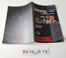 Super Nintendo SNES - Starwing - Notice / Instruction Manual
