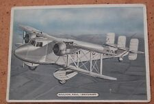 Ardath Tobacco; Fighting & Civil Aircraft 1936 16/25 Boulton Paul P.71A