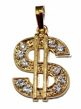 Dollar Sign Luck Charm -Pendant 18K Gold Plated - Money Pendant Sign