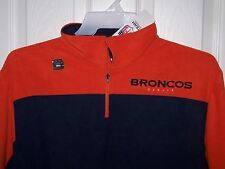 Denver Broncos Zippered Shirt Embroidered  Mens Large New w/ Tags Free Shipping