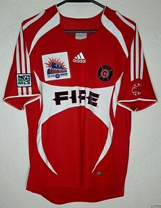 MLS Chicago Fire Works Edition Adidas 2007 Cuauhtemoc Blanco Soccer Jersey