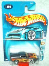 Hot Wheels 2003 #193 Wastelanders Mustang Mach 1 Flat black w/flames.
