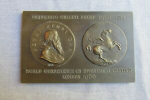 World Conference on Investment Casting -- London -- 1966 -- Bronze Plaque