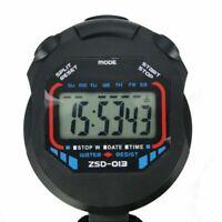 Handheld Digital LCD Chronograph Sports Stoppuhr Timer Stoppuhr N3M6 C2T8