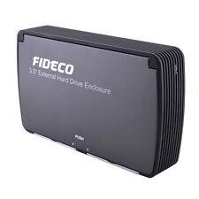 FIDECO USB 3.0 Serial ATA Hard Drive Enclosure w/  Fan for PC Windows Mac OS