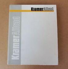 Kramer Schaufelllader 420 Ersatzteilliste  Original 2000
