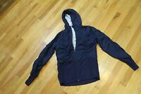 MONDETTA WINDBREAKER HOODED JACKET FRONT ZIP SIZE  M  NAVY  2 POCKETS  NWT