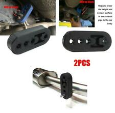 2PC 4 Hole 11mm Universal Car Rubber Exhaust Hanger Pipe Mounting Bracket Hanger