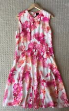 Gorgeous David Lawrence Floral Print Midi Dress Size 10 S EUC