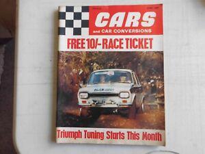 CARS AND CAR CONVERSIONS MAGAZINE  JUNE 1969,TRIUMPH, CAPRI, BMC, NSU, FIAT