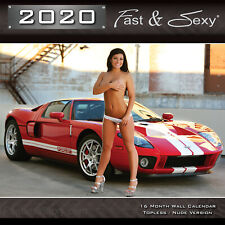 2020 Fast & Sexy Car Girl Wall Calendar 12x12 Rated R Version