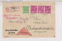 All.Bes./Gemeinsch.Ausg. Mi.954(3er),915, Not-R-NN-Lastau - Augustusburg,12.5.48