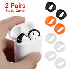 2 Pairs Silicone Antislip Earphone Earbuds Tips Cover For AirPods Apple EarPods