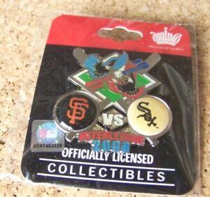 2008 SF San Francisco Giants vs Chicago White Sox Interleague pin MLB