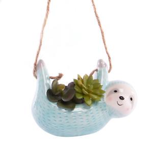 Hanging Sloth Planter Hanging Plant & Flower Pot Indoor & Outdoor Basket Pukkr