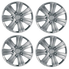 "Flare 15"" Car Wheel Trims Hub Caps Plastic Covers Set of 4 Silver Universal"