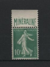 """FRANCE N° 188 A """" SEMEUSE 10c BANDE PUBLICITAIRE MINERALINE """" NEUF xx LUXE  P821"""