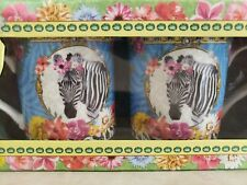 Zebra Mugs Fine China 10 oz Made by Easy Life Fancy Animals Dora Papis
