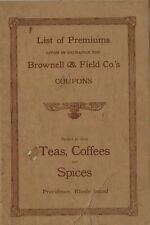 1921 Brownell & Field Co. Coupon Premiums Redemption Catalog