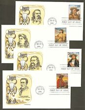 #2869 a-t 29c Legends of the West Set of 20 different Artmaster FDCs