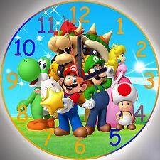 Wanduhr - Uhr für das Kinderzimmer - Super Mario Bros. Motiv 2 - Kinderuhr