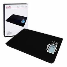Black Electronic 5kg Digital Kitchen Scales Postal Weighing Ultra Slim LCD Home