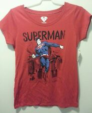 NEW WOMEN'S SUPERMAN WORKOUT T SHIRT BLOUSE TOP SIZE 2XL 19 DC comics justice