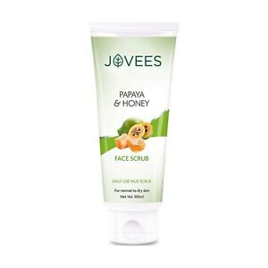 Jovees Papaya & Honey Face Scrub With Daily Use For Normal to Dry Skin 100 ml