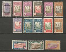 Niger RF 1921/1938 14 timbres non oblitérés avec trace de charnière /T4517