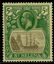 More details for st. helena gv sg110, 5s grey & green/yellow, lh mint. cat £45.