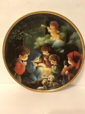 Precious Moments Come Let Us Adore Him Bible Plate Collection 1991