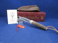 "Muela 7"" Stag Fixed Blade Knife Mint In Box With Leather Sheath Mint N Box MN-8A"
