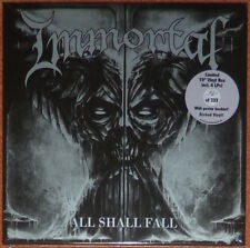 "Immortal - All Shall Fall. Vinyl box set with four 10"" silver discs."