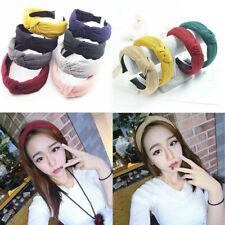 1 PCS Womens Headband Twist Hairband Bow Knot Cross Tie Headwrap Hair Band Hoop