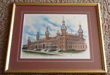 Moorish Architecture Print U of Tampa Bay Hotel Florida Plant Museum Signed,  #