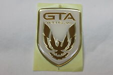 91-92 Trans Am GTA White Front Bumper Emblem New