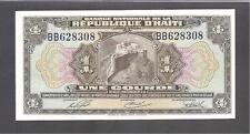 "Haiti p-178, UNC, 1 Gourde, 1919, Prefix ""BB"""