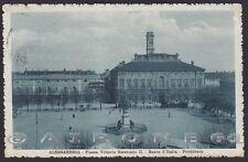 ALESSANDRIA CITTÀ 131 BANCA D'ITALIA - PREFETTURA Cartolina viaggiata 1915