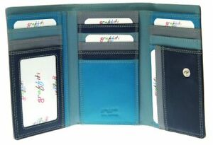 Graffiti/Golunski Medium Leather Trifold Purse Style 7116 Colour Storm  RFID